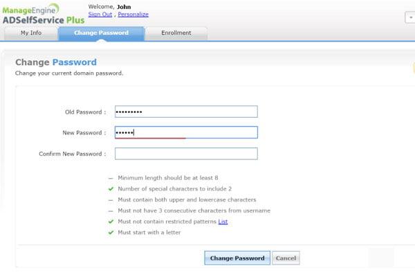 active directory password management